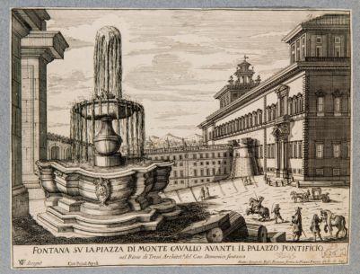 Fontana dei Dioscuri al Quirinale, veduta d'insieme
