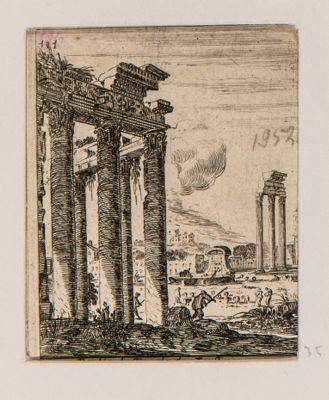 Tempio di Antonino e Faustina, angolo del pronao