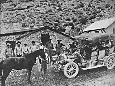 Bronco and motor car