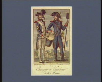 Canonier et tambour de la Marine [estampe]