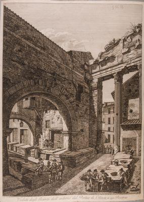 Portico di Ottavia, interno