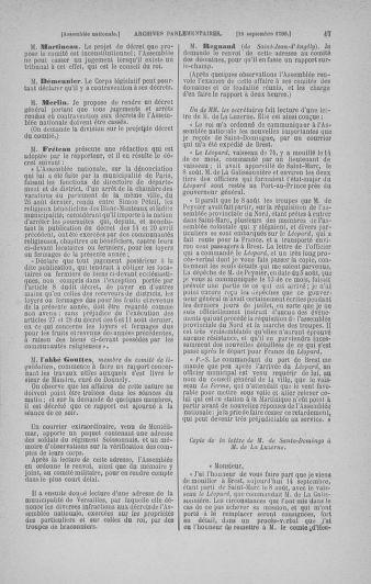Tome 19 : Du 16 septembre au 23 octobre 1790 - page 47