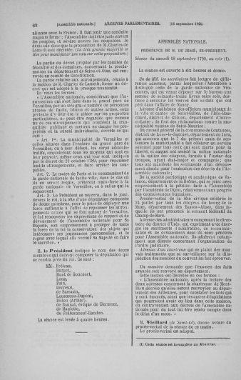 Tome 19 : Du 16 septembre au 23 octobre 1790 - page 62