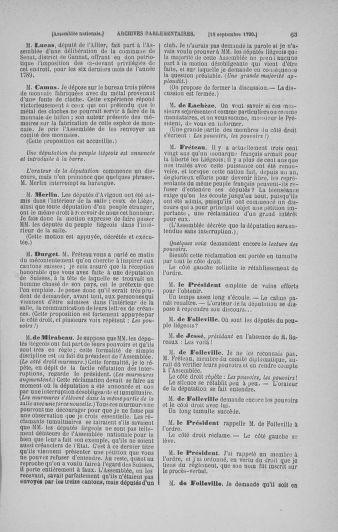 Tome 19 : Du 16 septembre au 23 octobre 1790 - page 63