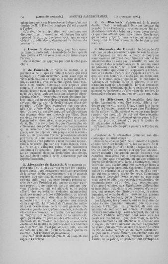 Tome 19 : Du 16 septembre au 23 octobre 1790 - page 64