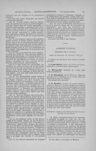 Tome 19 : Du 16 septembre au 23 octobre 1790 - page 67