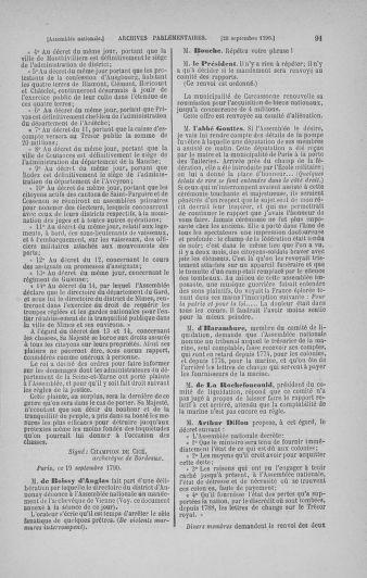 Tome 19 : Du 16 septembre au 23 octobre 1790 - page 91
