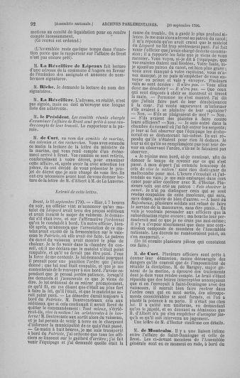 Tome 19 : Du 16 septembre au 23 octobre 1790 - page 92