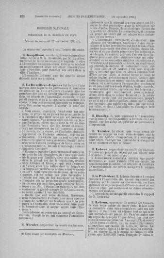 Tome 19 : Du 16 septembre au 23 octobre 1790 - page 136