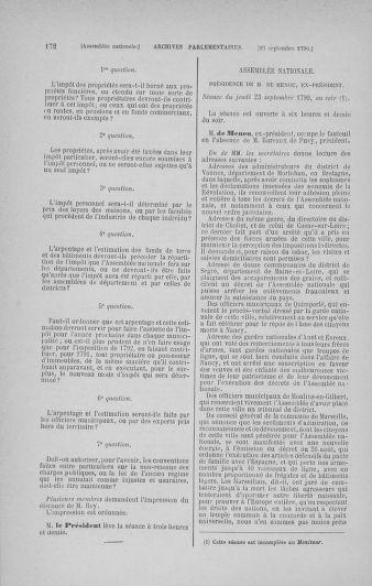 Tome 19 : Du 16 septembre au 23 octobre 1790 - page 172