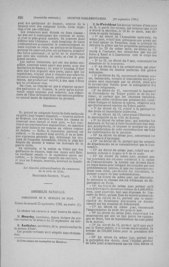 Tome 19 : Du 16 septembre au 23 octobre 1790 - page 220