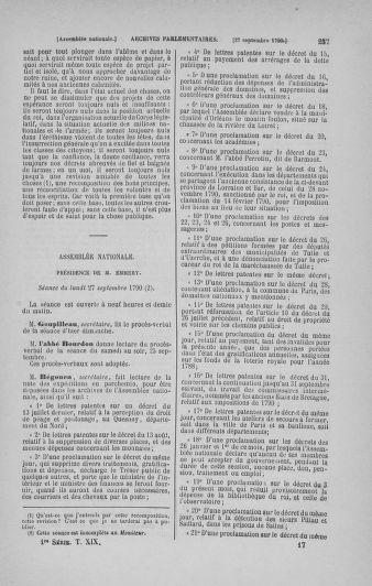 Tome 19 : Du 16 septembre au 23 octobre 1790 - page 257
