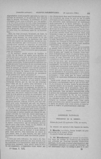 Tome 19 : Du 16 septembre au 23 octobre 1790 - page 321