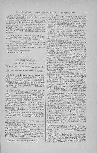 Tome 19 : Du 16 septembre au 23 octobre 1790 - page 323