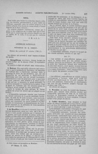 Tome 19 : Du 16 septembre au 23 octobre 1790 - page 337