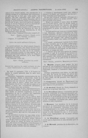 Tome 19 : Du 16 septembre au 23 octobre 1790 - page 421