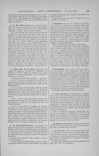 Tome 19 : Du 16 septembre au 23 octobre 1790 - page 425