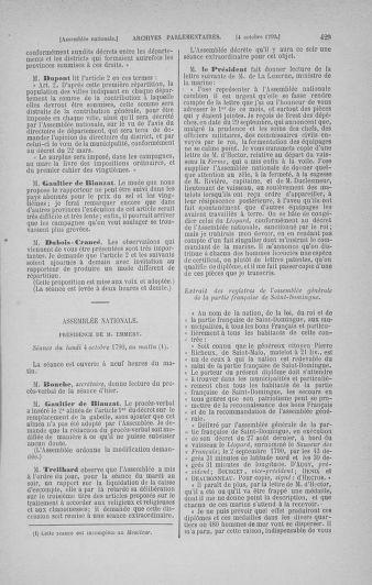 Tome 19 : Du 16 septembre au 23 octobre 1790 - page 429