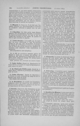 Tome 19 : Du 16 septembre au 23 octobre 1790 - page 430