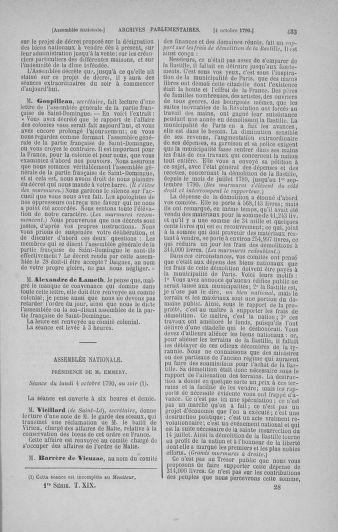 Tome 19 : Du 16 septembre au 23 octobre 1790 - page 433