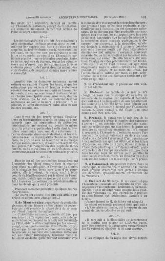 Tome 19 : Du 16 septembre au 23 octobre 1790 - page 531