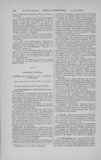 Tome 19 : Du 16 septembre au 23 octobre 1790 - page 578