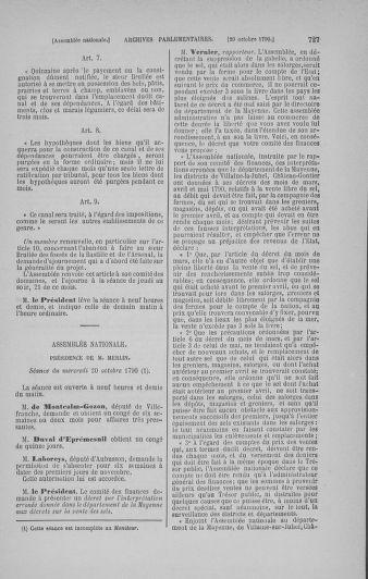 Tome 19 : Du 16 septembre au 23 octobre 1790 - page 727