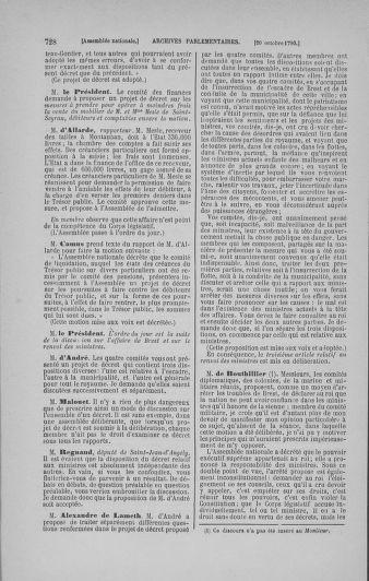 Tome 19 : Du 16 septembre au 23 octobre 1790 - page 728