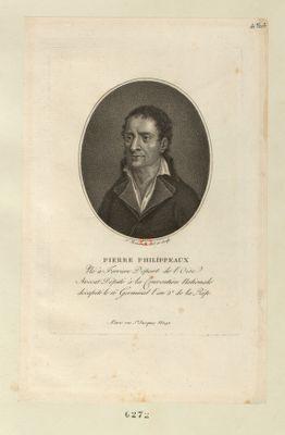 Pierre Philippeaux né à Ferriere départ. de l'Oise, avocat député à la Convention nationale décapité le 16 germinal l'an 2.<em>e</em> de la Rép. : [estampe]