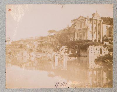 Foro Romano, panorama sud inondato