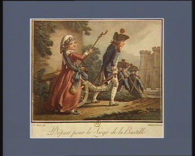 Départ pour le siege de la Bastille [estampe]