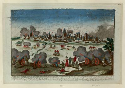 Siege de la ville de Lille ce siege à jamais memorable dans l'histoire. .. : vue de la ville de Lille : [estampe]