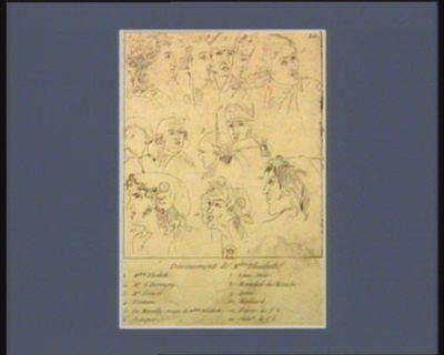 Devouement de M.dme Elisabeth 1. M.dme Elisabeth 2. Mr d'Hermigny... : [estampe]