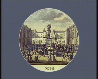 N.o 46 : les monumens insultans, des quatres nations enchainées au pied de la statue [estampe]