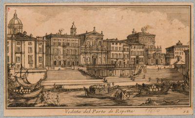 Porto di Ripetta, veduta generale del Tevere