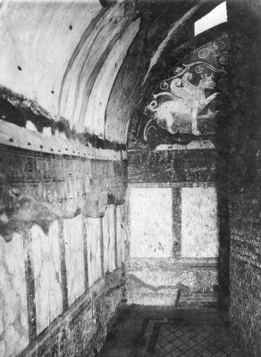 Domus Augustana, wall decoration of the Casa dei Grifi under the Domus Flavia