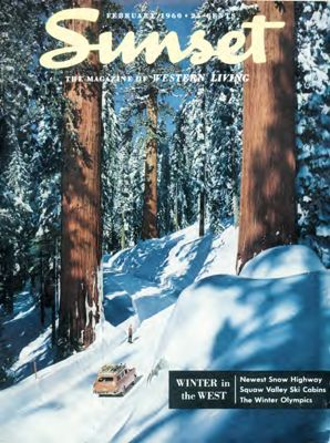 Sunset Magazine cover. February 1960