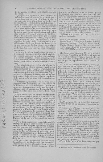 Tome 59 : Du 19 février au 8 mars 1793 - page 2