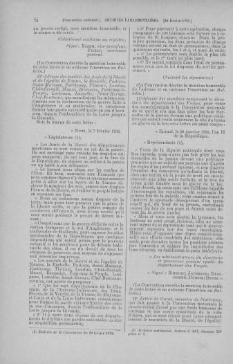 Tome 59 : Du 19 février au 8 mars 1793 - page 74
