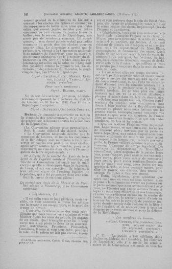Tome 59 : Du 19 février au 8 mars 1793 - page 98