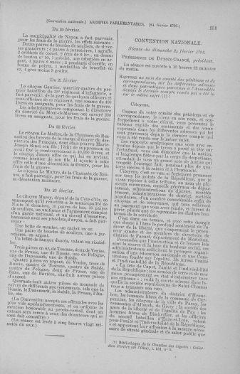 Tome 59 : Du 19 février au 8 mars 1793 - page 131