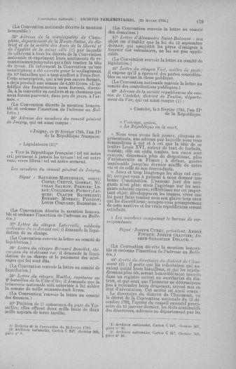 Tome 59 : Du 19 février au 8 mars 1793 - page 179