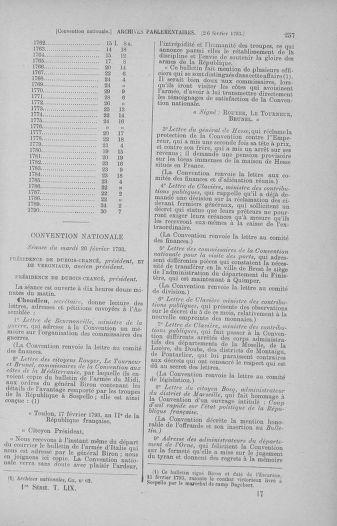Tome 59 : Du 19 février au 8 mars 1793 - page 257