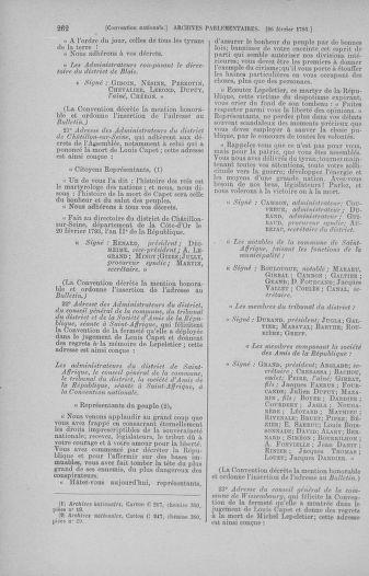 Tome 59 : Du 19 février au 8 mars 1793 - page 262