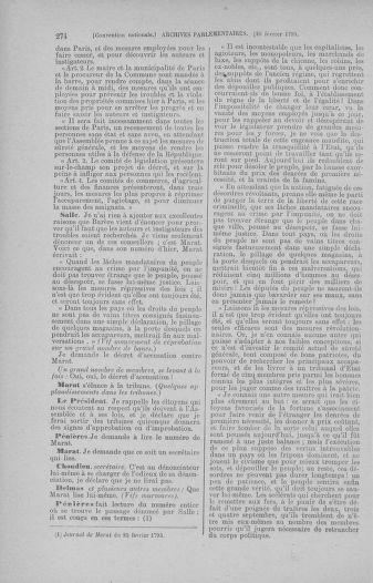 Tome 59 : Du 19 février au 8 mars 1793 - page 274