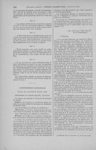 Tome 59 : Du 19 février au 8 mars 1793 - page 284