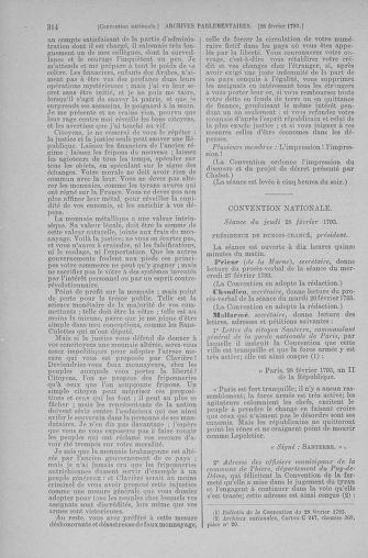 Tome 59 : Du 19 février au 8 mars 1793 - page 314