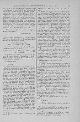 Tome 59 : Du 19 février au 8 mars 1793 - page 499