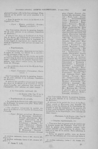 Tome 59 : Du 19 février au 8 mars 1793 - page 609