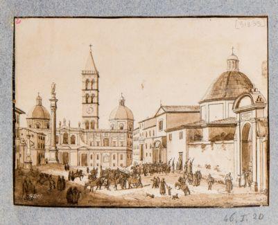 Piazza di Santa Maria Maggiore e chiesa di S. Antonio